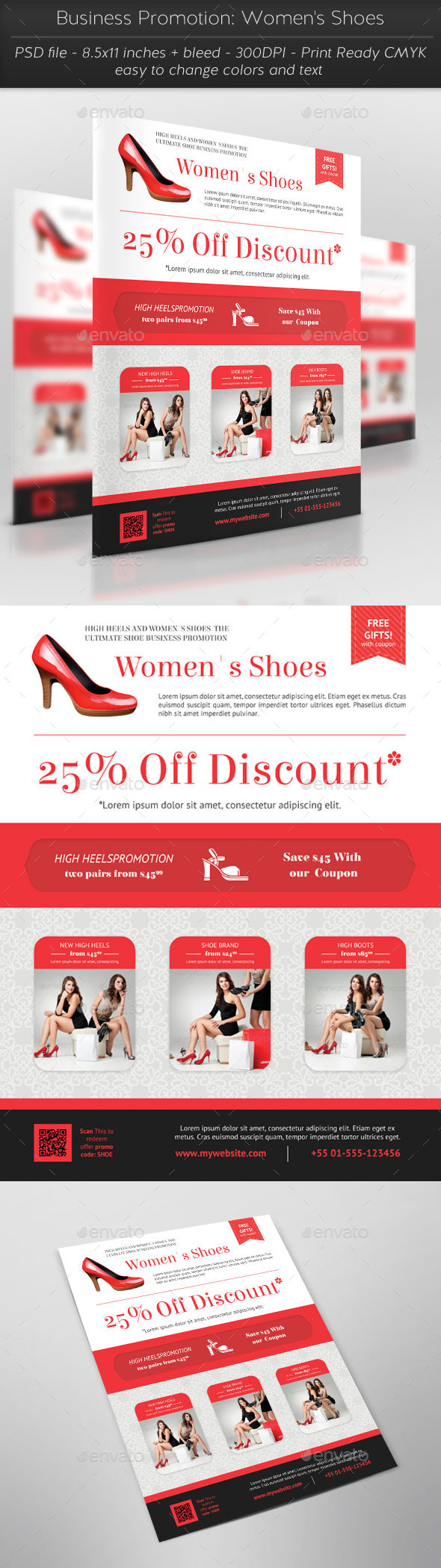 Business Promotion: Women's Shoes - Commerce Flyers