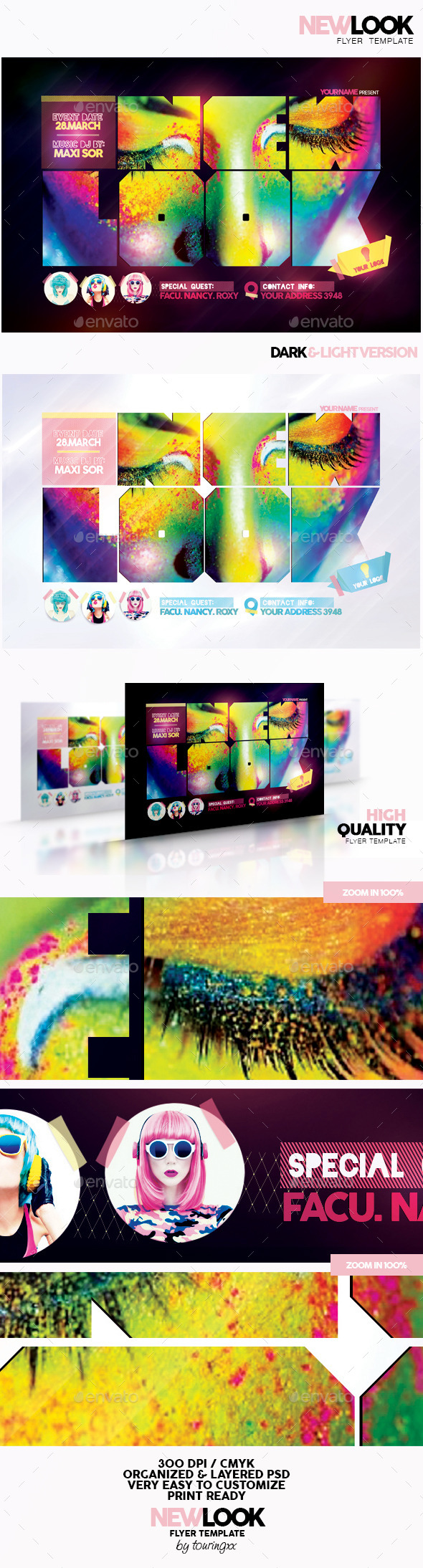 New Look Flyer Template - Clubs & Parties Events