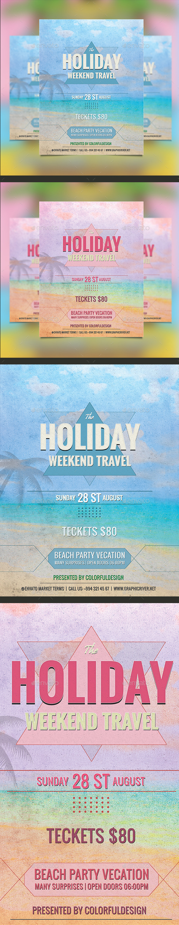 Holiday Travel Flyer Template - Events Flyers