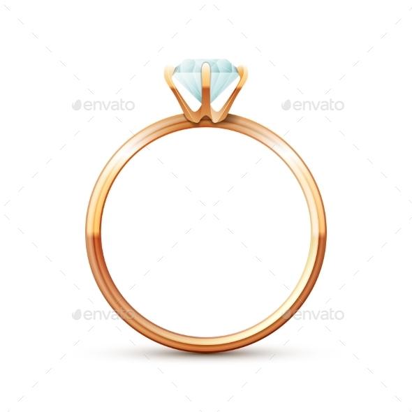Gold Wedding Ring - Weddings Seasons/Holidays