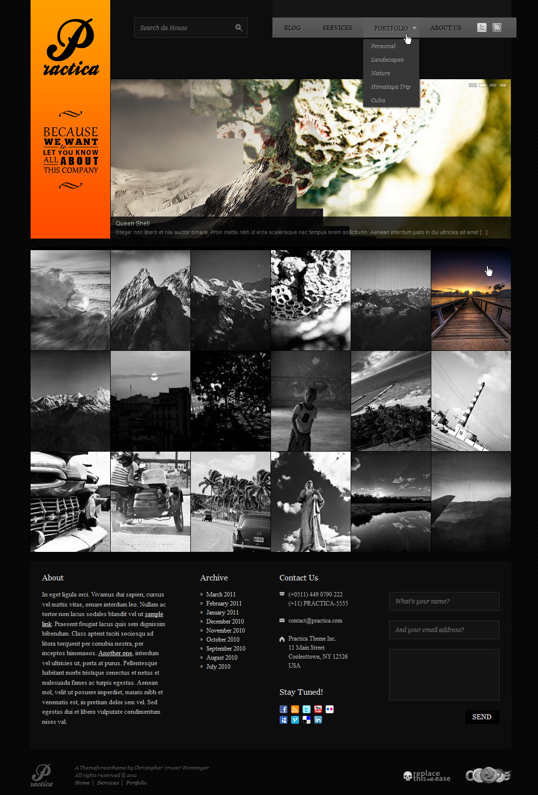 Practica Portfolio - Sophisticated Theme by crozer | ThemeForest