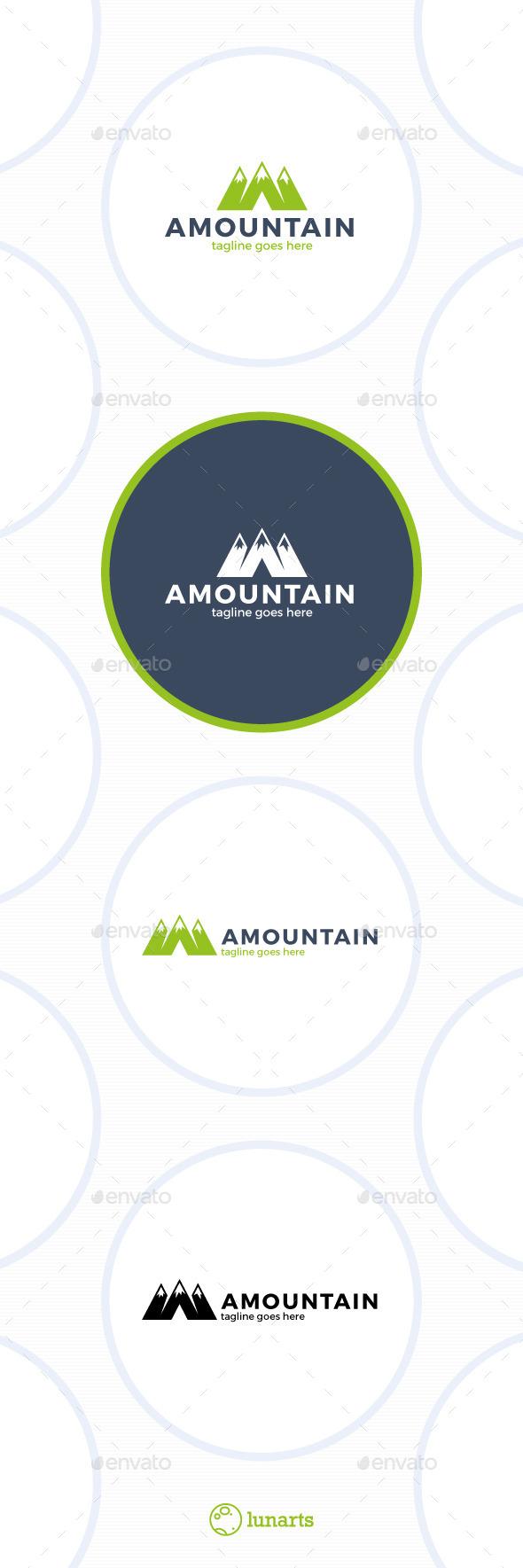 Mountain Logo • Letter M • A - Letters Logo Templates