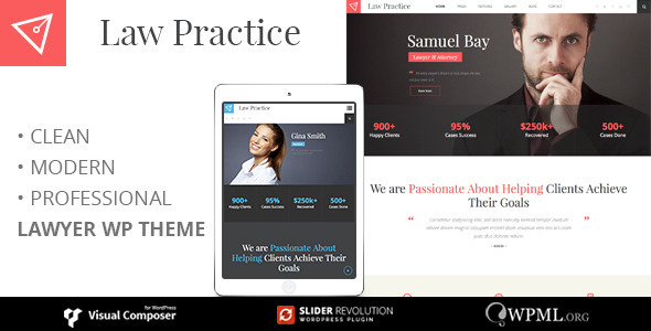 LAW PRACTICE - Lawyer Responsive Business WordPress Theme - Business Corporate