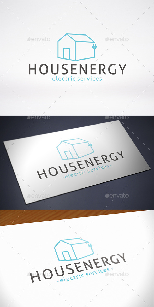 House Energy Logo Template - Buildings Logo Templates