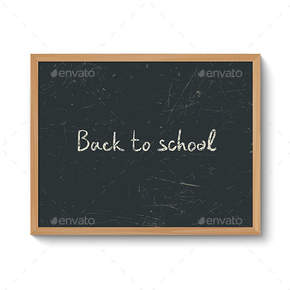 Blackboard in a Wooden Frame - Man-made Objects Objects