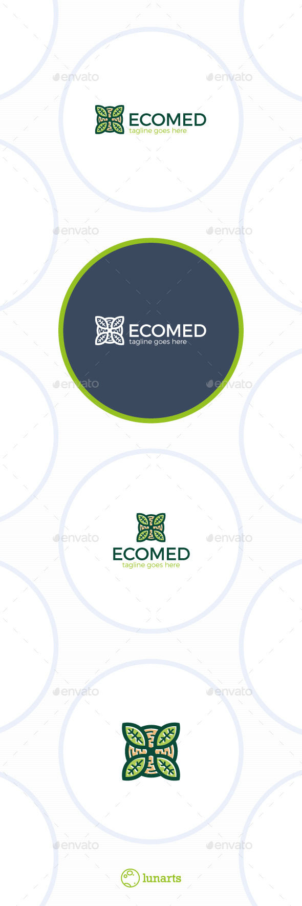 Eco Medical Logo • Letter X - Nature Logo Templates