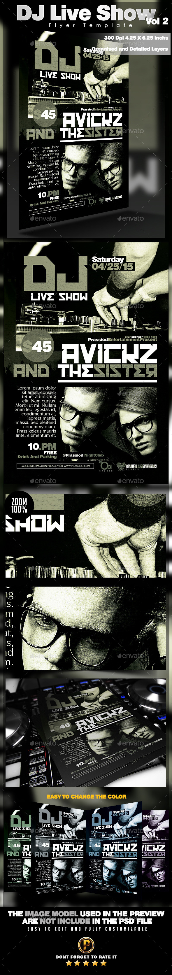 DJ Live Show Flyer Template Vol 2 - Clubs & Parties Events