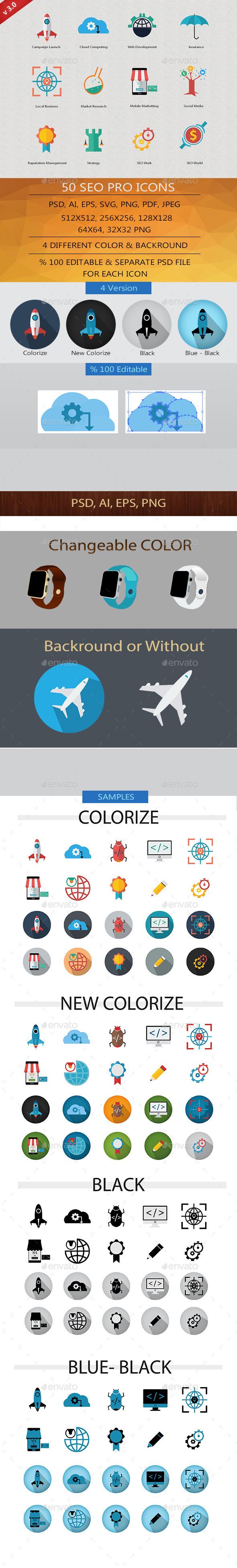 SEO Pro Icons v.3 - Business Icons