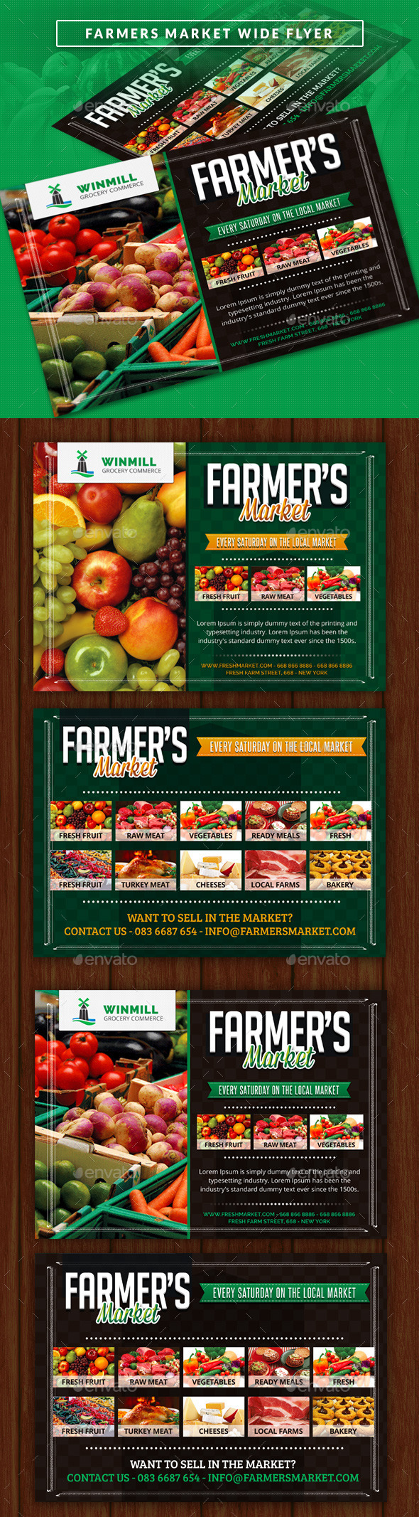 Farmer's Market Commerce Wide Flyer - Commerce Flyers