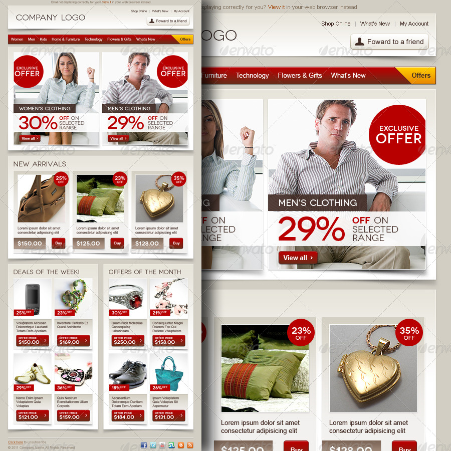 E-commerce Offers Email Template Design Vol.3 by R_GENESIS ...