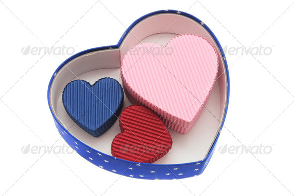 Heart-shaped Gift Boxes - Stock Photo - Images