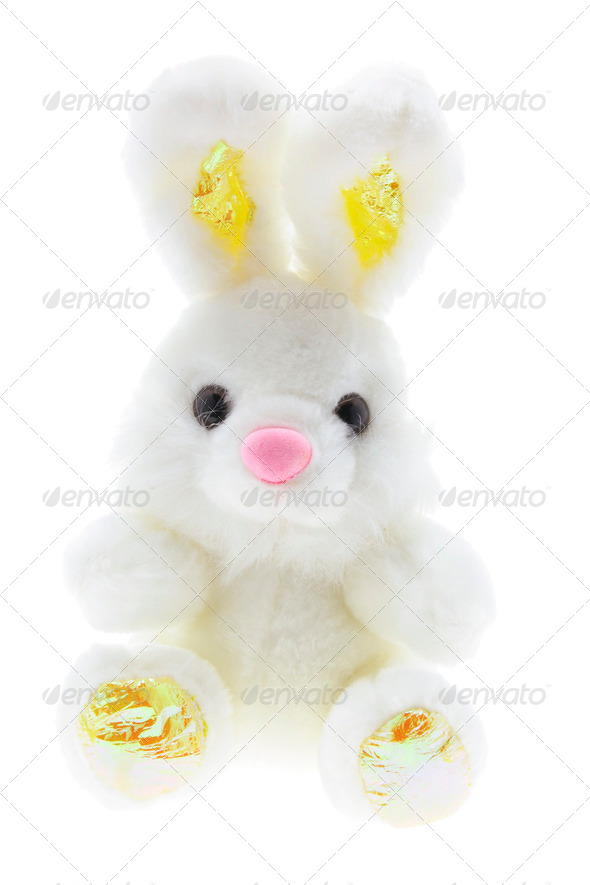 Easter Toy Bunny - Stock Photo - Images