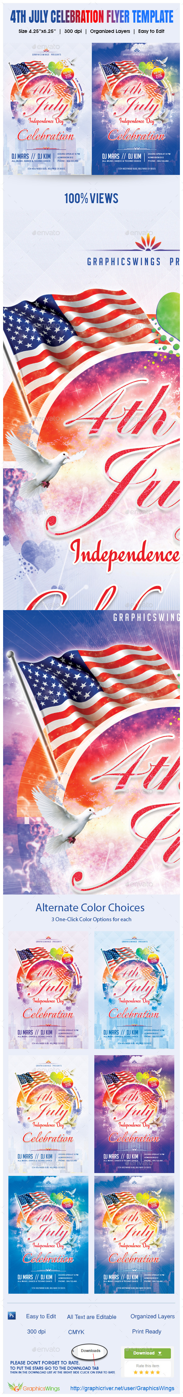4th July Flyer Template - Flyers Print Templates