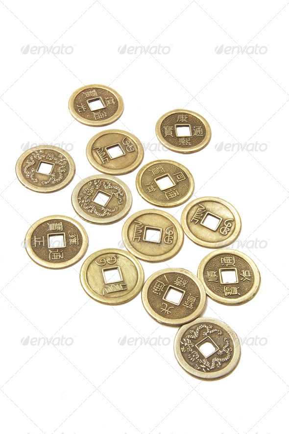 Ancient Chinese Coins - Stock Photo - Images