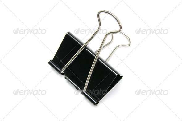 Bulldog Paper Clip - Stock Photo - Images