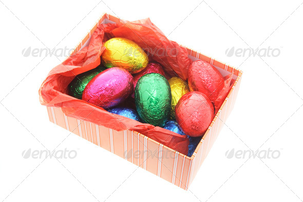Easter Eggs in Gift Box - Stock Photo - Images