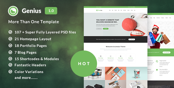 Genius – Multi-Purpose PSD Template