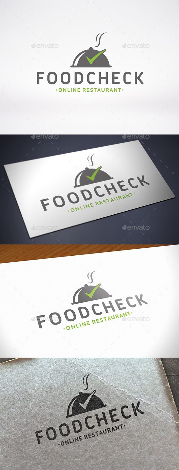 Food Tick Check Mark Logo Template - Objects Logo Templates