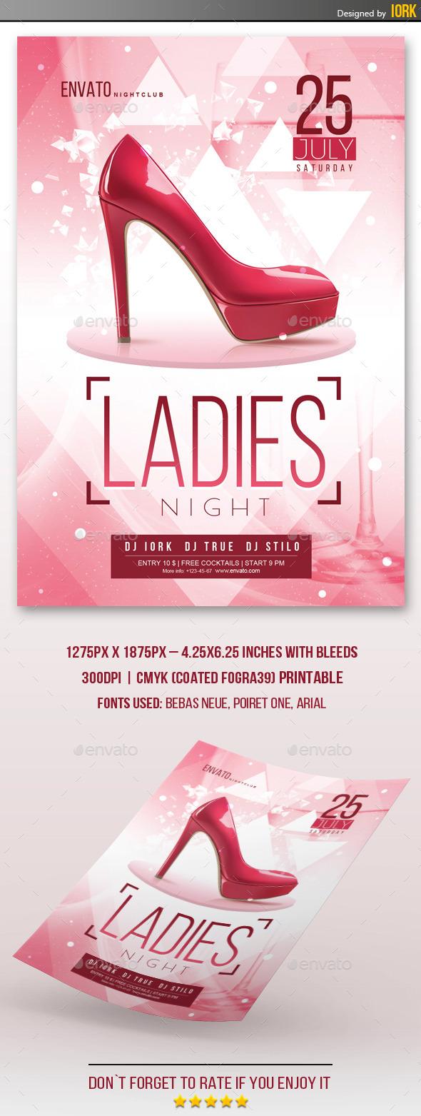 Ladies Night Flyer - Flyers Print Templates