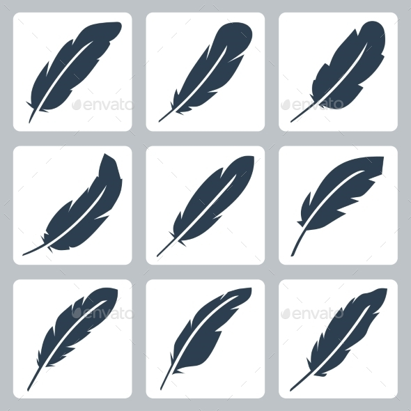 Vector Feather Icons Set - Icons