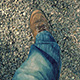 Walking On Gravel Path In Evening - VideoHive Item for Sale