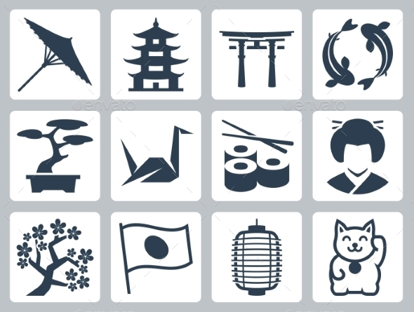 Japan Related Vector Icon Set - Icons