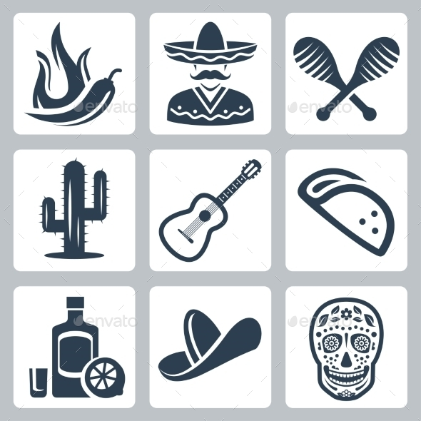 Mexico Related Vector Icon Set - Icons