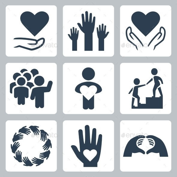Charity And Volunteer Icon Set - Icons