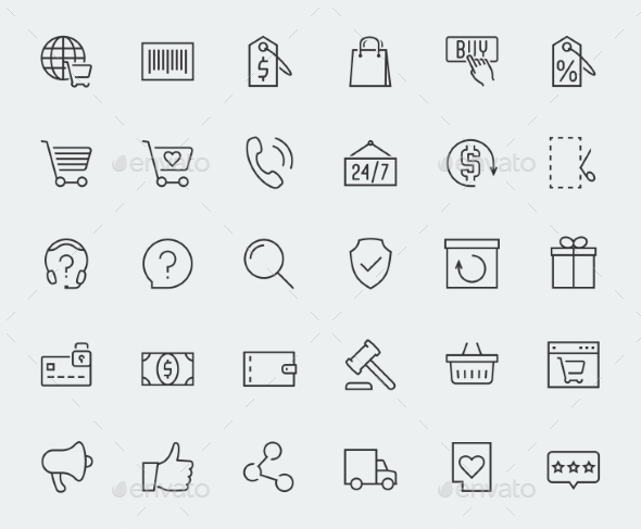E-commerce And Online Shopping Related Vector Icon - Icons