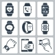 Vector Icon Set Of Smart Watches - GraphicRiver Item for Sale