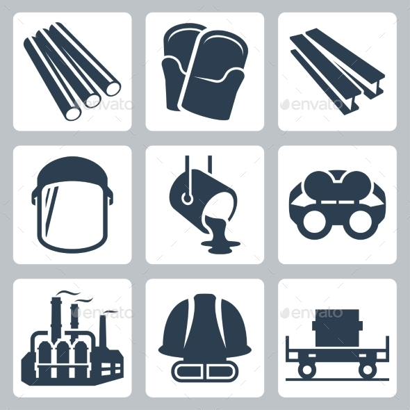 Metallurgy Related Vector Icon Set - Icons