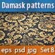 Seamless Damask Patterns Set 8 - GraphicRiver Item for Sale