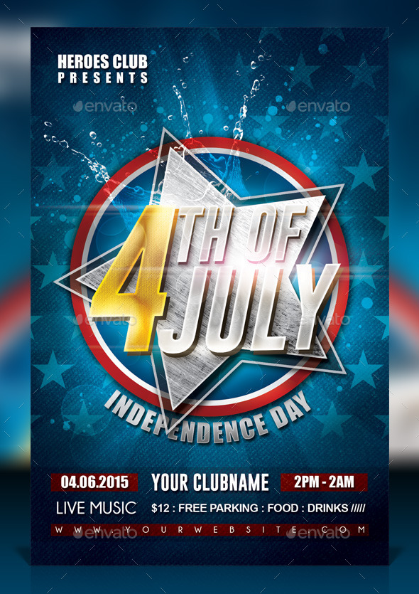4th of July Celebration Flyer - Events Flyers