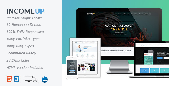 Image of IncomeUp - Multipurpose Drupal Theme