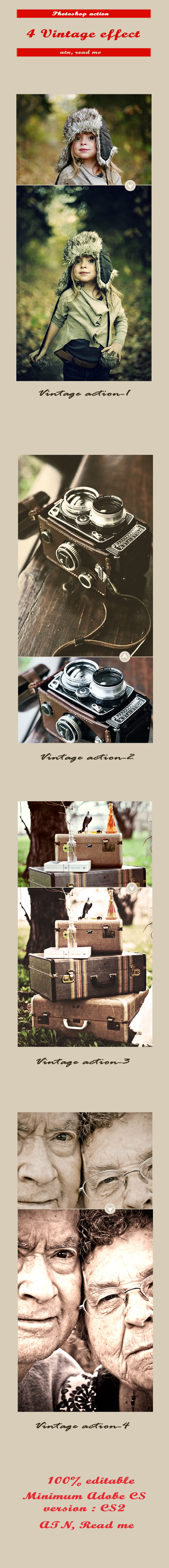 4 Vintage Photo Effect - Photo Effects Actions