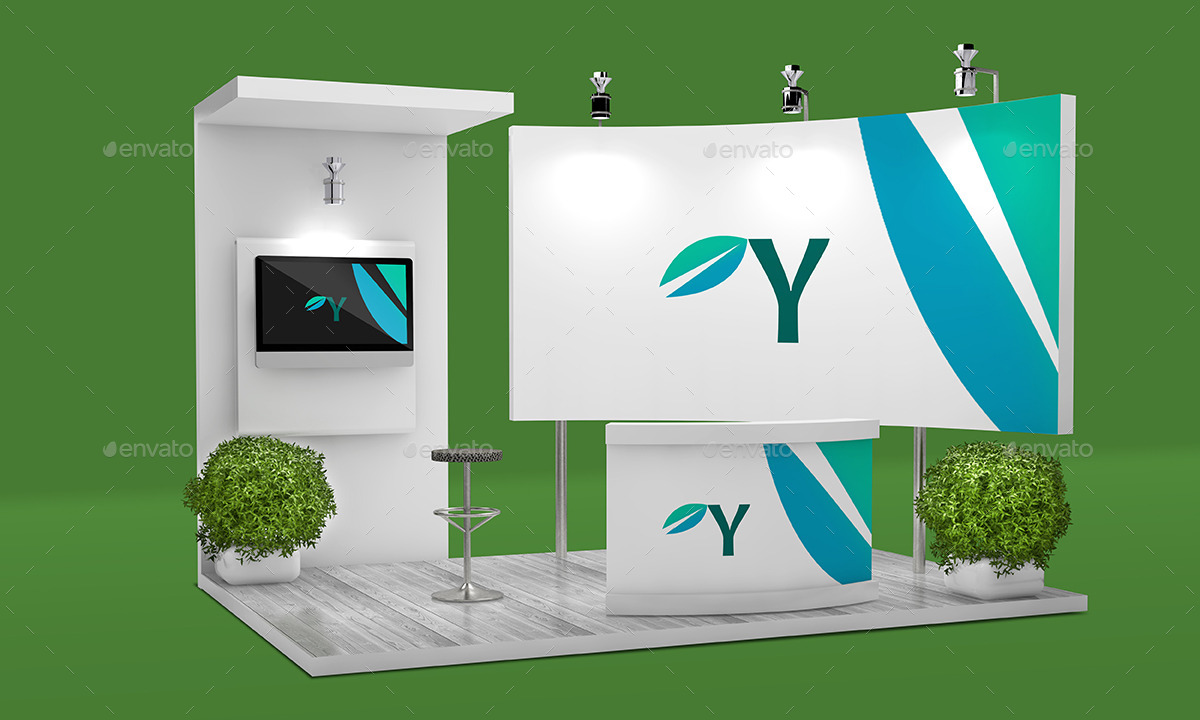 Exhibition Stand Design Mockup Free Download : Trade show booth mockup by sbcreation graphicriver