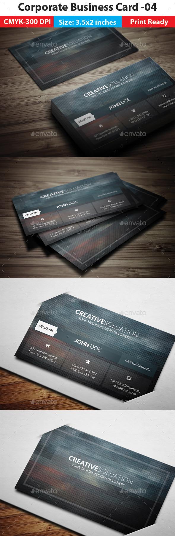 Corporate Business Card -04 - Corporate Business Cards