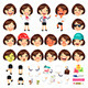 Set of Cartoon Female Manager Characters - GraphicRiver Item for Sale
