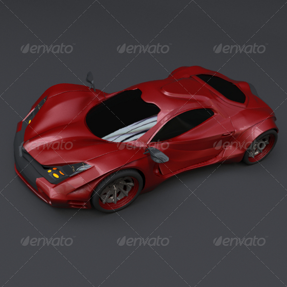 Redstone concept car - 3DOcean Item for Sale
