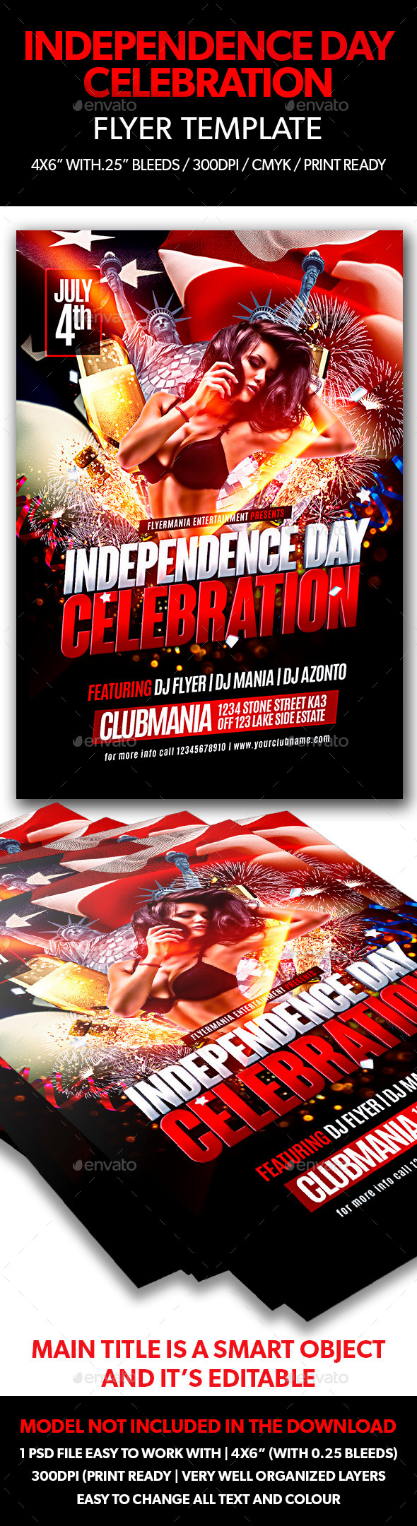 Independence Day Celebration Flyer Template - Flyers Print Templates