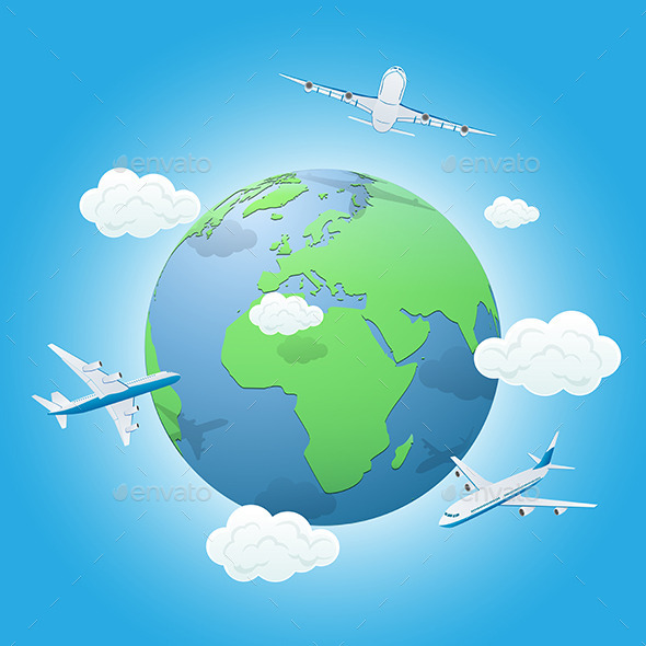 Earth and Planes - Travel Conceptual