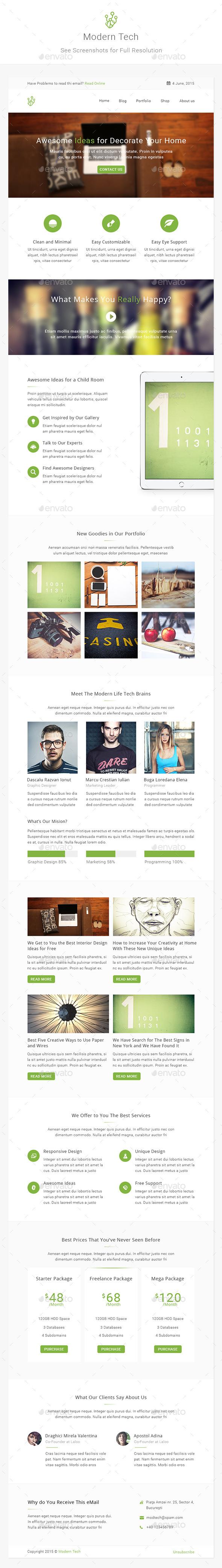 Modern Tech - Modern Business E-newsletter - E-newsletters Web Elements