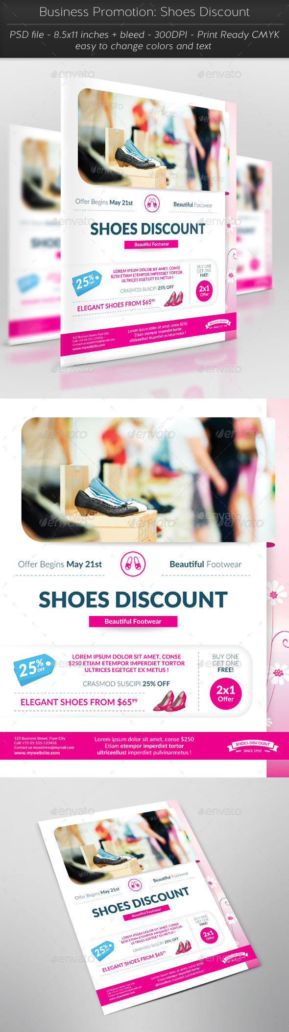 Business Promotion: Shoes Discount - Commerce Flyers