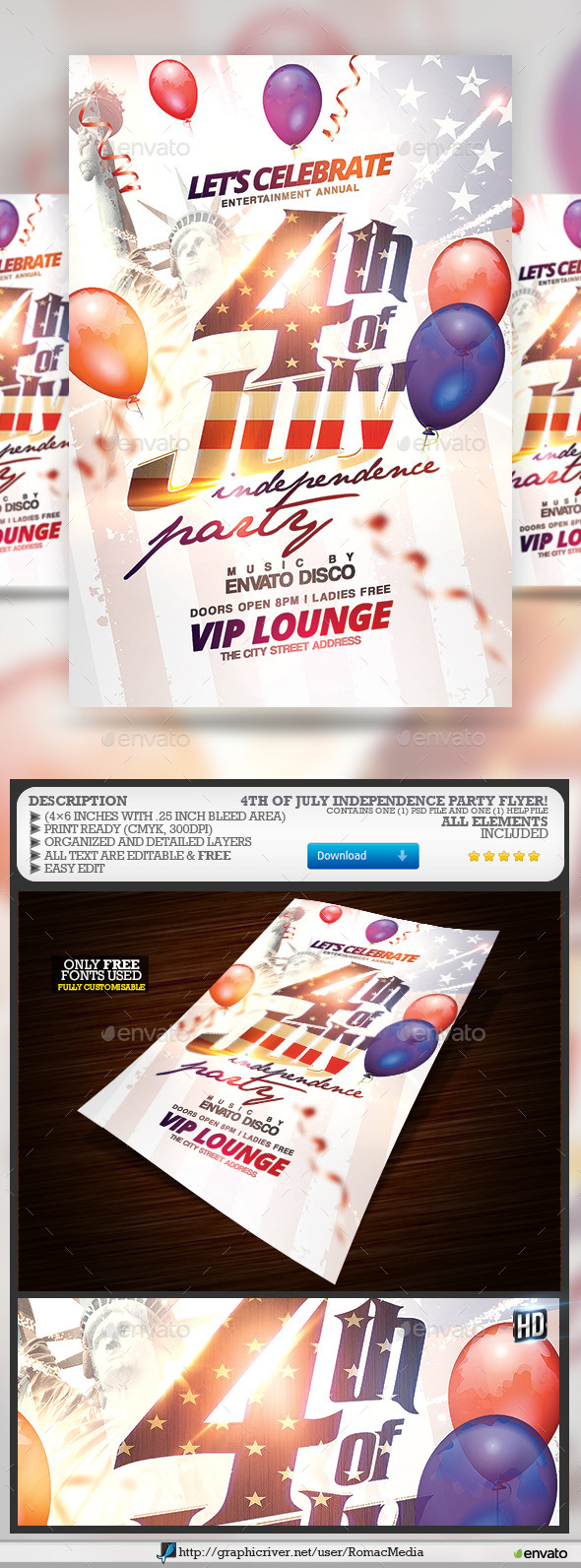 4th of July Independence Party - Events Flyers