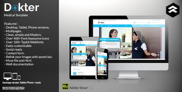 Dokter - Medical Muse Template - Corporate Muse Templates