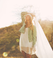 Fashion, Young Woman Outdoors at Sunset - PhotoDune Item for Sale