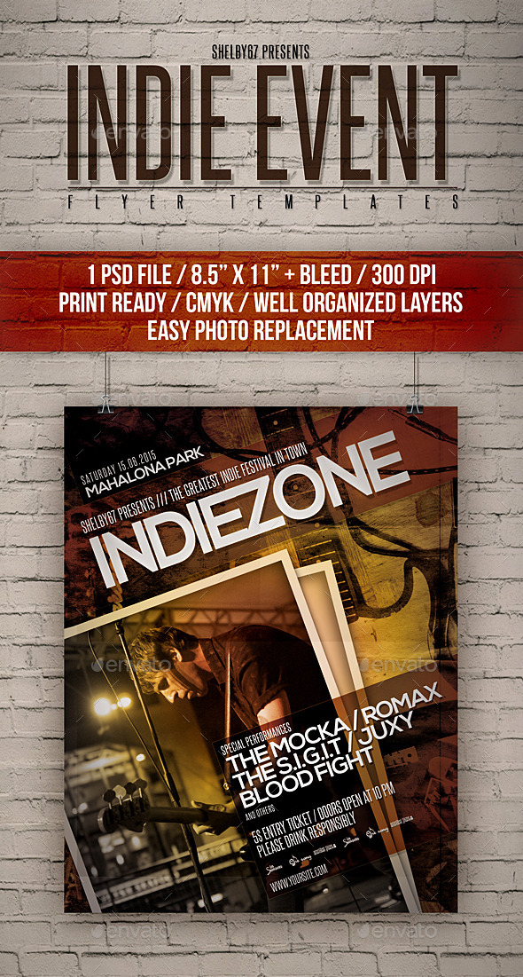 Indie Event Flyer Templates - Events Flyers