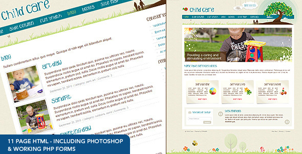 Child Care Creative – 11 page HTML