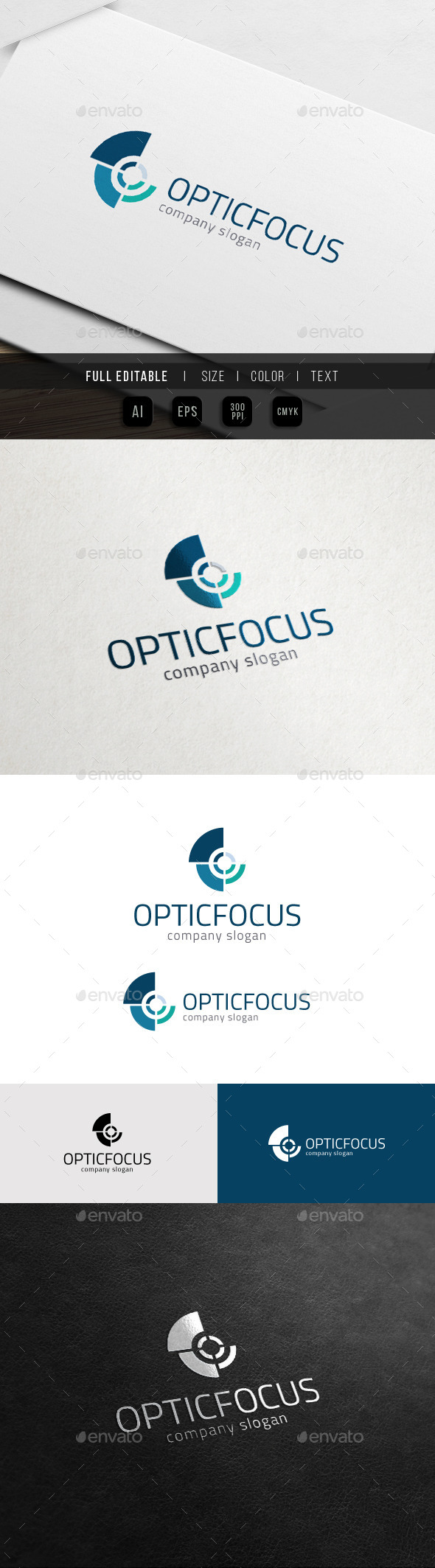 Snail Focus - Optic Camera - Letter O Logo - Letters Logo Templates