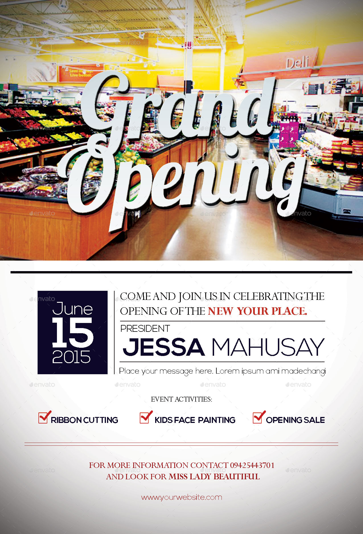 Grand Opening Flyer By Naphtalistoics Graphicriver